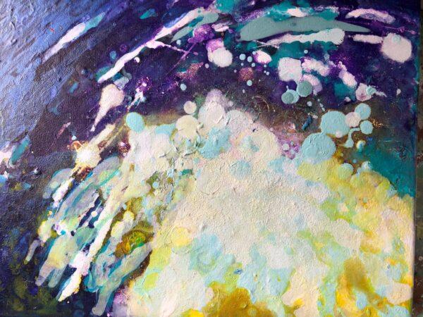 Sinéad Ní Chionaola. Dive in. Acrylic on canvas 200x250mm