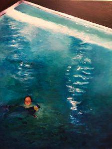 Sinead Ní Chionaola. Light Shining Through 20X24 2019 acrylic on canvas