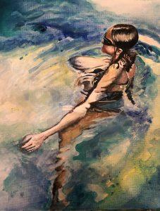 Sinead Ní Chionaola. This Moment 20x25cm 2019 acrylic on canvas